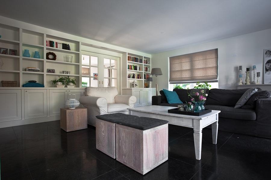 Interieur complete inrichting elon vloer interieur - Lounge en keuken in dezelfde kamer ...