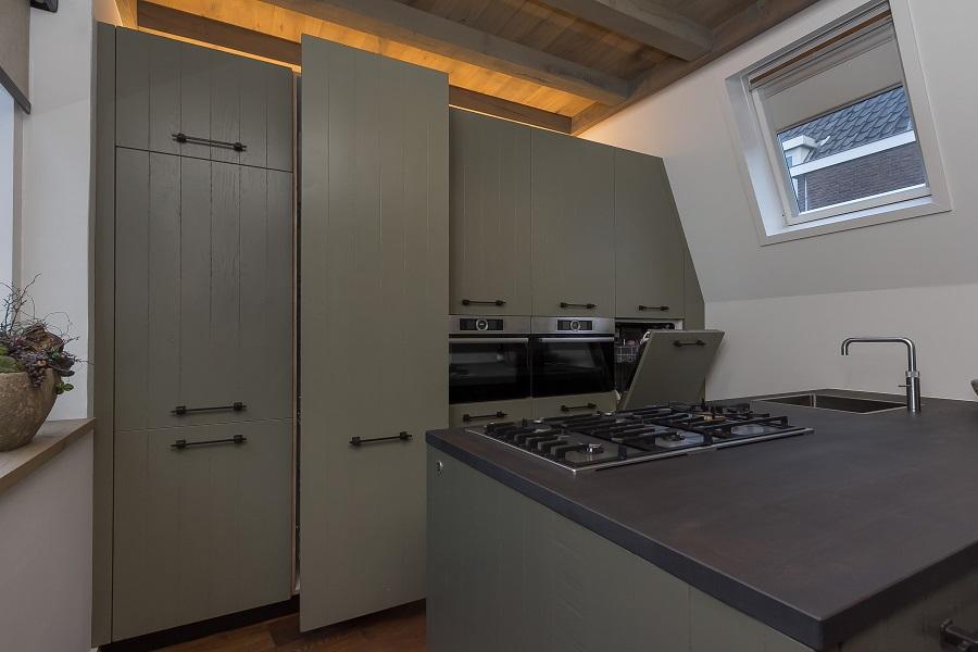 Landelijk keuken vloer - Eiland zwarte bad ...
